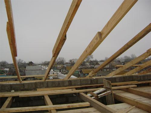 Стропила для крыши своими руками фото